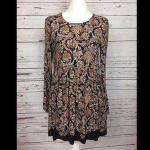 Zara Trafaluc Paisley Long Sleeve Dress Medium ✨